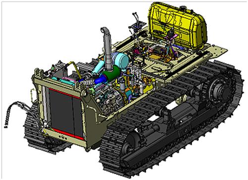 Базовое шасси трактора Т10М2С/Т12С
