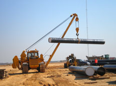 There with produced by ChTZ-Uraltrac Pipe-layers TR 12 and TR 20 with 20 and 40 tonnes